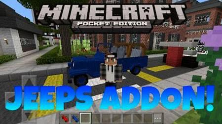 Мод Jeeps для Minecraft PE