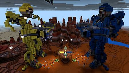 Gold Crafter PvP Transformers mcpe 3