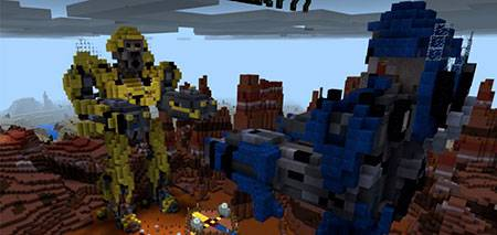 Gold Crafter PvP Transformers mcpe 2