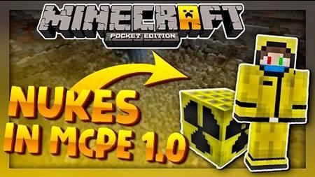 Мод Nuke addon для Minecraft PE
