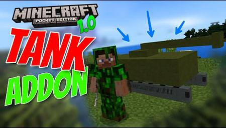 Мод Mine Tanks для Minecraft PE