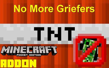 Мод No Griefers For Realms для Minecraft PE
