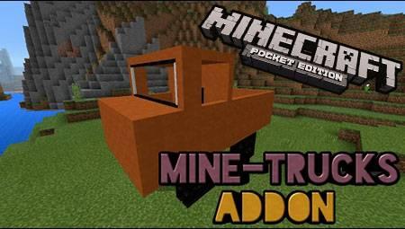 Мод Mine Trucks для Minecraft PE