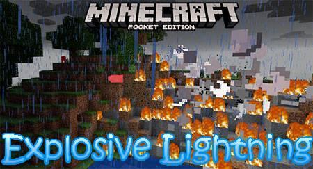 Мод Explosive Lightning для Minecraft PE