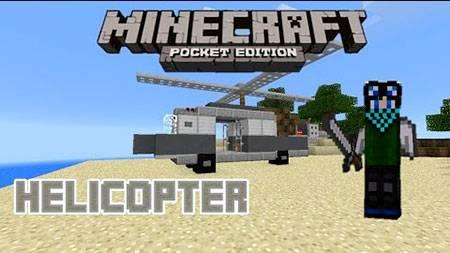 Мод Helicopter для Minecraft PE