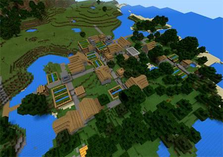 Двойная деревня с кузницей mcpe 3