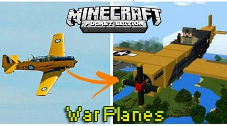 Мод War Planes для Minecraft PE