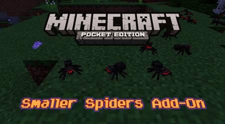 Мод Smaller Spiders для Minecraft PE