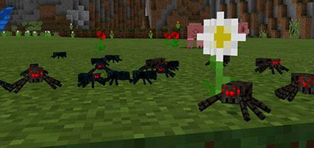 Smaller Spiders mcpe 1