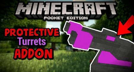 Мод Protective Turrets для Minecraft PE