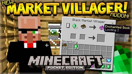 Мод Black Market Villager для Minecraft PE