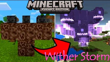 Мод Wither Storm для Minecraft PE