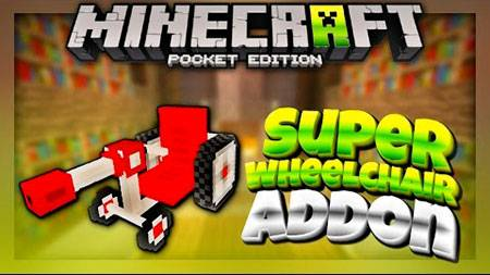 Мод Super Wheelchair для Minecraft PE