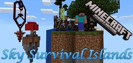 Карта Sky Survival Islands для Minecraft PE