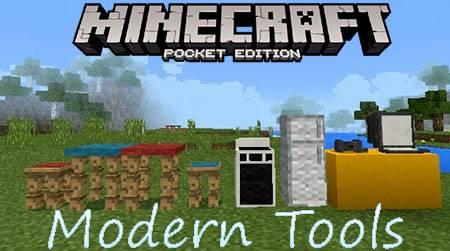 Мод Modern Tools для Minecraft PE