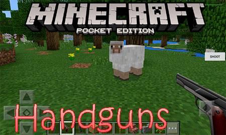 Мод Handguns для Minecraft PE