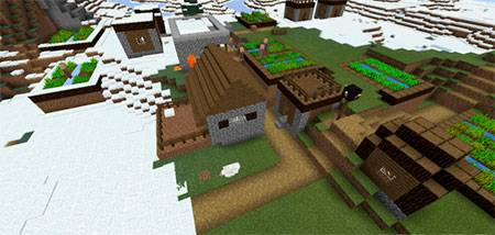Winter Village mcpe 3
