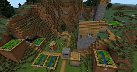 Weird Village mcpe 2