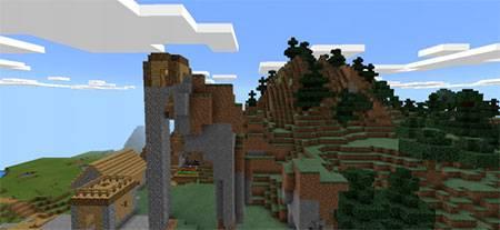 Weird Village mcpe 5