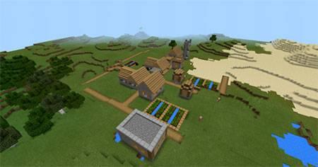 Glitched Village mcpe 4
