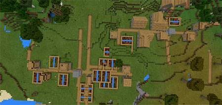 Double Village At Spawn mcpe 4