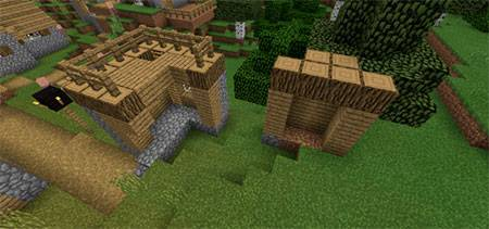 Double Village At Spawn mcpe 7