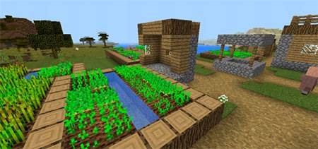 Double Village At Spawn mcpe 5