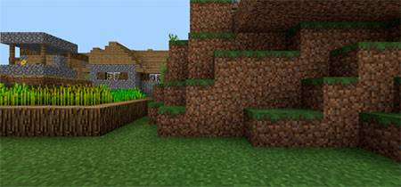 Double Village At Spawn mcpe 1