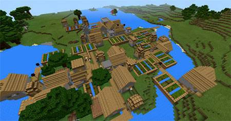 Mashed Triple Village mcpe 2