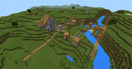 Mashed Triple Village mcpe 7
