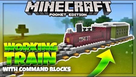 Карта Command Block Train для Minecraft PE