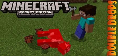 Мод Double Drops для Minecraft PE