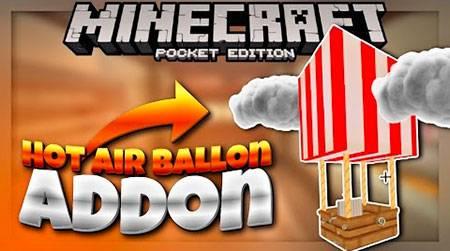 Мод Hot Air Balloon - воздушный шар для MCPE