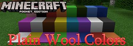 Текстуры Plain Wool Colors для Minecraft PE