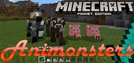 Мод Animonsters для Minecraft PE