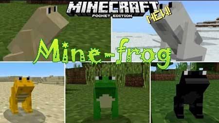 Мод Mine-frog для Minecraft PE