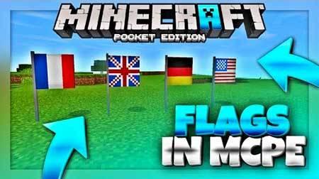 Мод Flags для Minecraft PE