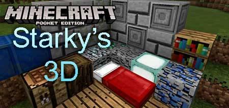 Текстуры Starky's 3D для Minecraft PE