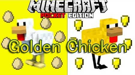 Мод Golden Chicken для Minecraft PE
