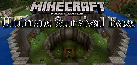 Карта Ultimate Survival Base для Minecraft PE