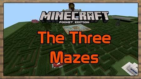 Карта The Three Mazes для Minecraft PE