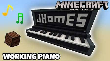 Карта Working Giant Piano для Minecraft PE