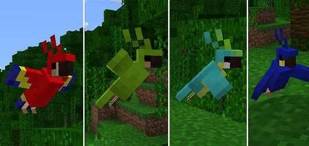Мод Minecraft PC Parrots для Minecraft PE