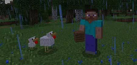Соундпак Softer Rain для Minecraft PE