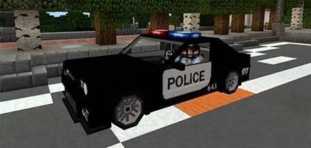 Police Car mcpe 1