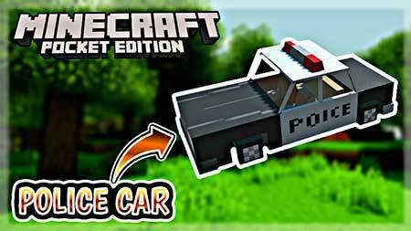 Мод Police Car для Minecraft PE