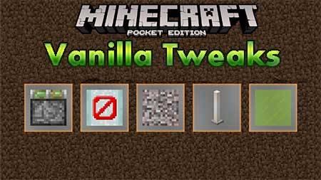 Текстуры Vanilla Tweaks для Minecraft PE