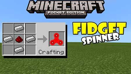 how to make a fidget spinner in minecraft pe