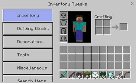 Inventory Tweaks mcpe 4