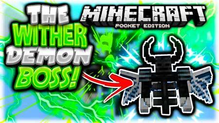 Мод Wither Demon Boss для Minecraft PE